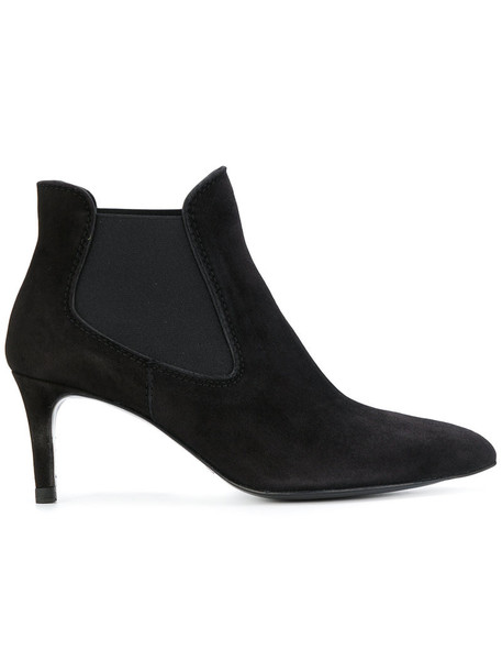 Pedro Garcia women leather suede black shoes