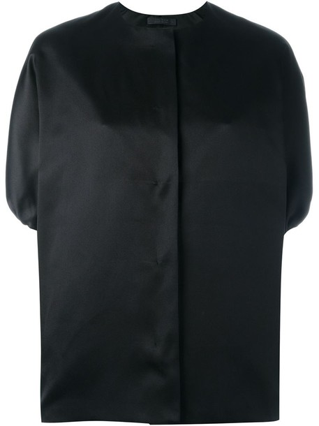 The Row jacket women black silk