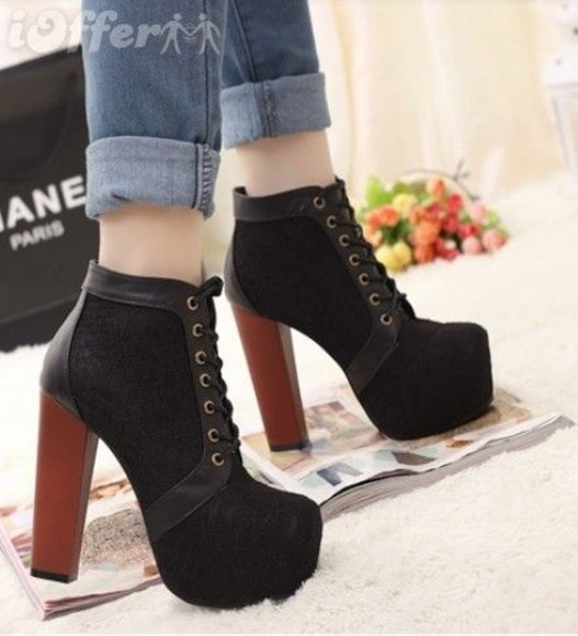 shoes lita platform boot jeffrey campbell jeffrey campbell lita litas jeffrey campbell shoes boots black high heels