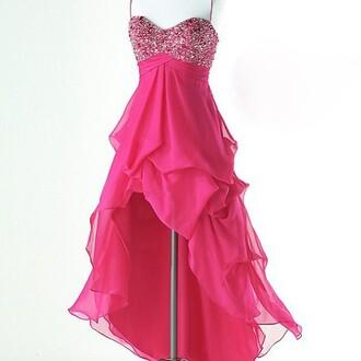 dress pink dress glittery dress