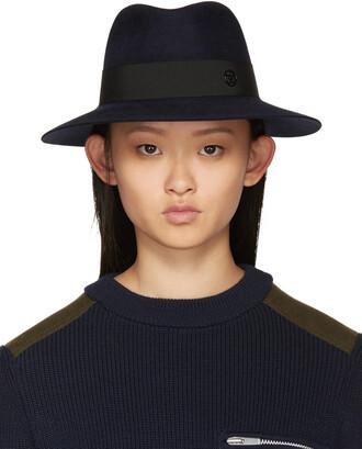 fedora navy hat