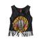 Gnr pattern tassel short sleeved t shirt tee