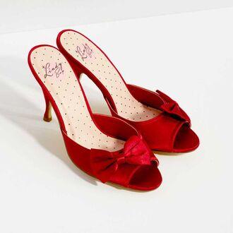 shoes high heel sandals red heels peep toe heels