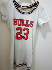dress,grey,bulls 23,bulls tee,red,chicago bulls dress,red dress
