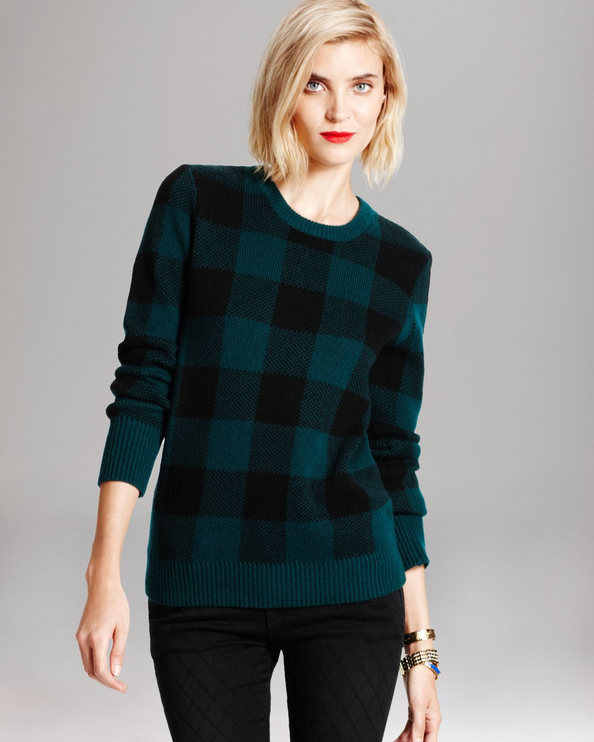 Equipment Sweater - Shane Plaid Crewneck | Bloomingdale's
