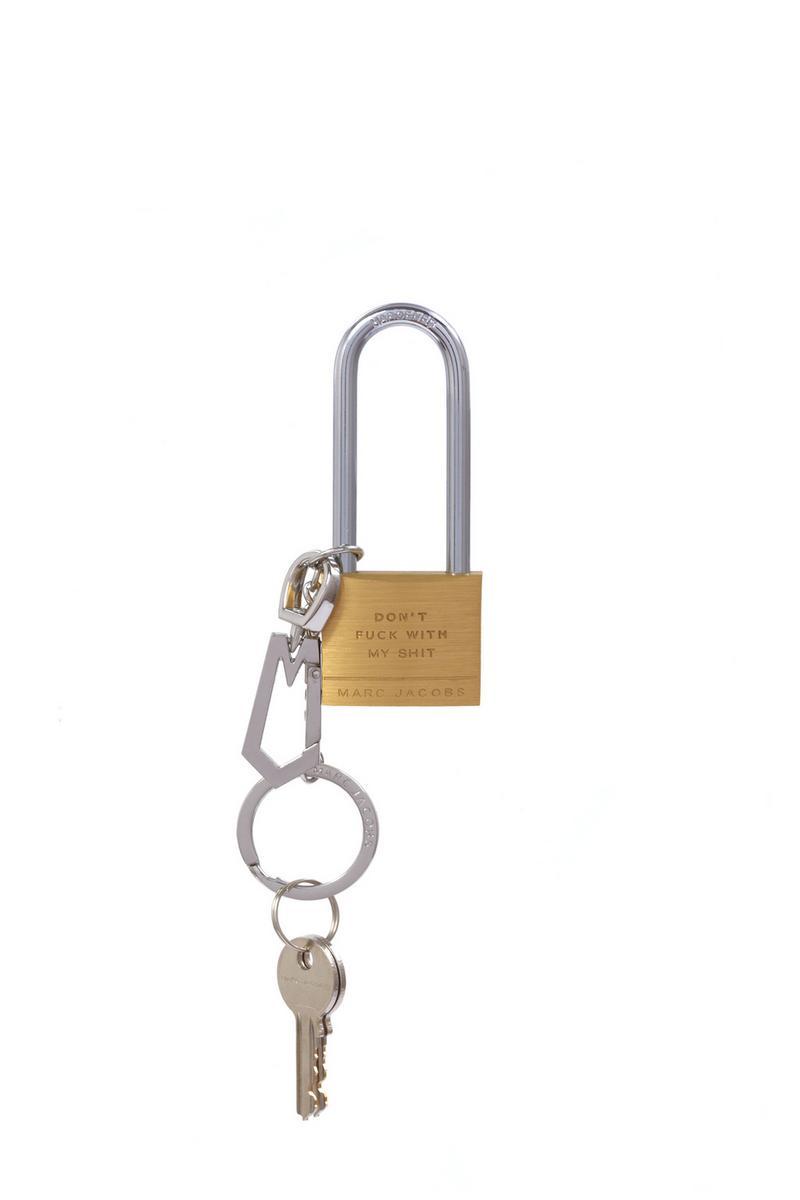 Padlock set keychain
