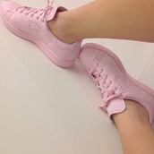 shoes,pink,tumblr,dope,sneakers,dipe girls,style,fashion,pink dress,girly,summer dress,tennis shoes,adidas lookalike,cute,lovely,shoe game