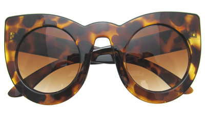 Selena cat eye sunglasses in tortoise