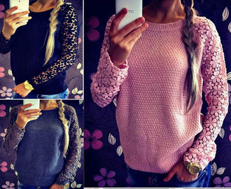 sweater fashion women clothing sweaters everywhere casual t-shirts knitted top lace top lace