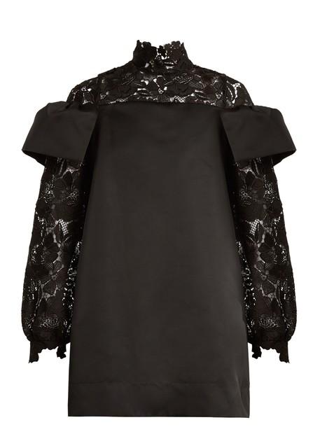 No. 21 dress satin dress lace satin black
