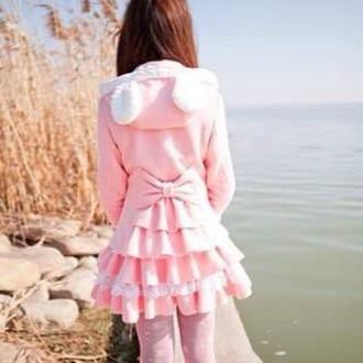 jacket pink kawaii bow asian pretty girly girl pastel