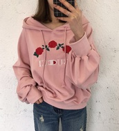 jacket,girly,tumblr,pink,hoodie,jumper,gucci,embroidered,trendy