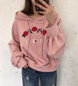 jacket girly tumblr pink hoodie jumper gucci embroidered trendy