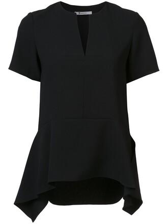 top draped black