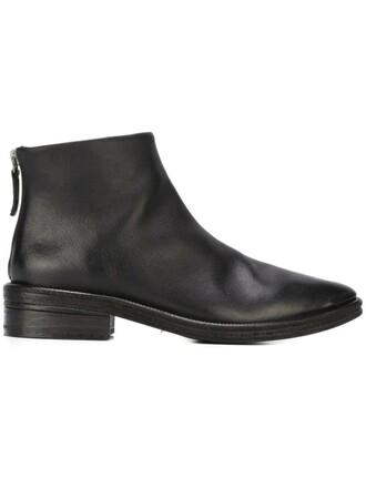 midi boots black shoes