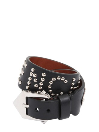 studded leather black brown jewels