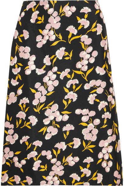 74c7662b9 Marni Floral-Print Cotton and Silk-Blend Faille Skirt - Wheretoget