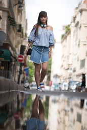 meet me in paree,blogger,top,skirt,shoes