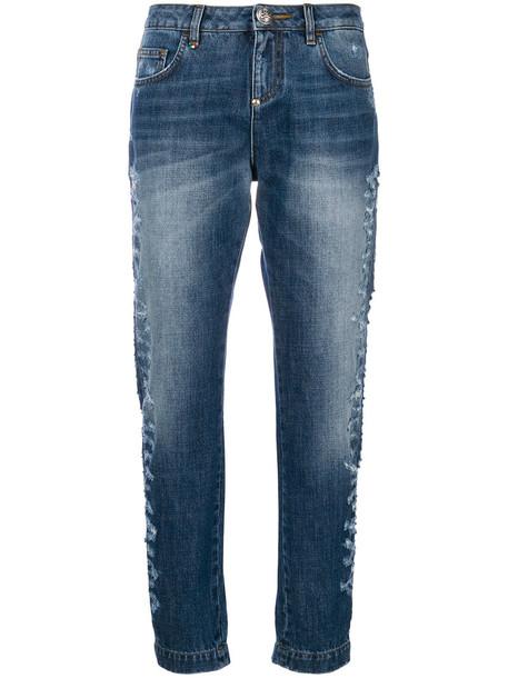 Philipp Plein - #HugMe jeans - women - Cotton/Polyester - 29, Blue, Cotton/Polyester