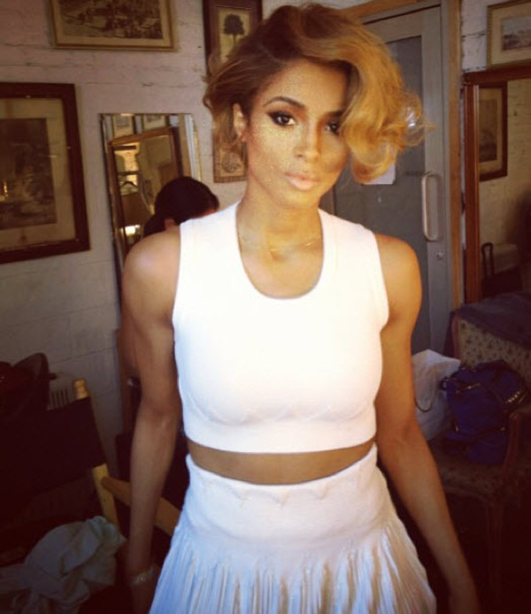 shirt ciara crop tops skirt white i'm out tank top crop tops white crop tops