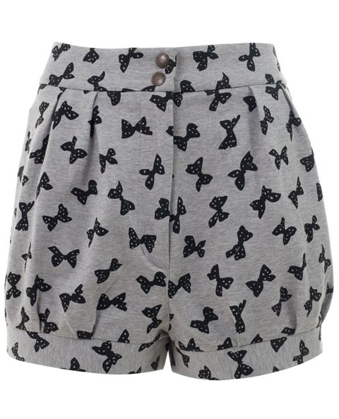 See By Chloé Bow Print High Waisted Shorts -  - Farfetch.com