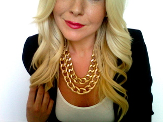 jewels necklace cuff gold double chain necklace blogger hrh collection double necklace