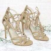 shoes,camel heels,beige heels,nude heels,suede,suede heels,peppermayo,lipstik