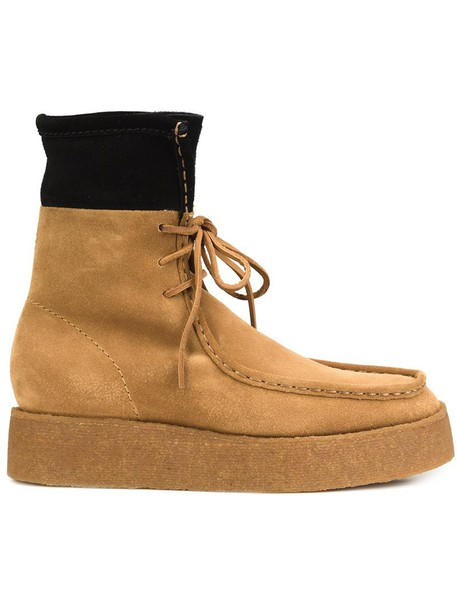 Alexander Wang women boots leather suede brown shoes