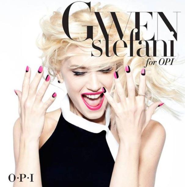 nail polish gwen stefani celebrity style opi hair/makeup inspo