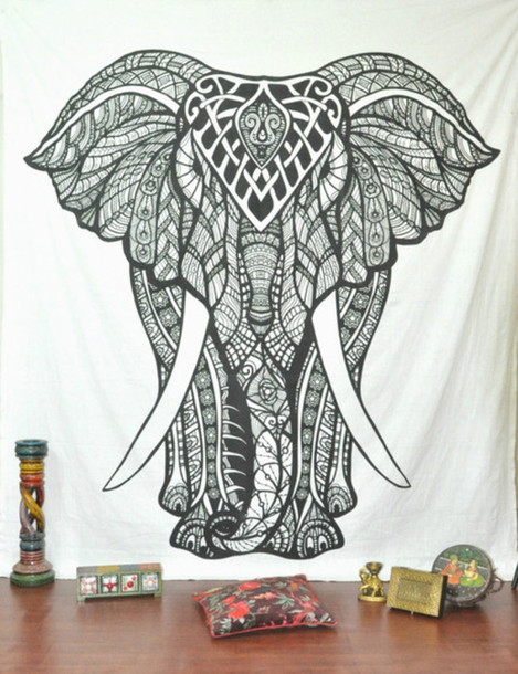 Home accessory elephant tapestry queen elephant bedcover