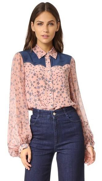 shirt pink top