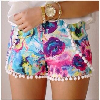 shorts floral shorts