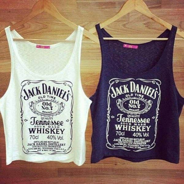 tank top tank top crop tops crop tank top ripped vintage gypsy hippie indie boho tumblr cool hot pretty t-shirt bohemian old school tumblr jack daniel's
