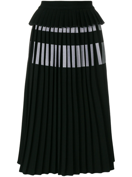 Ioana Ciolacu skirt midi skirt pleated women midi spandex black