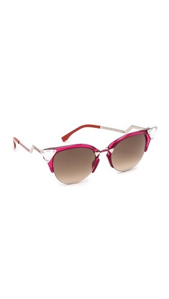 cherry sunglasses brown red