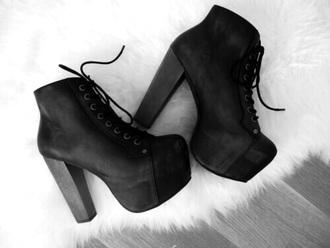 shoes black shoes plateau high heels plateau boots classy black plateau shoes