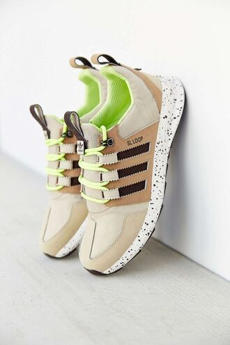 shoes neon sneakers nude sneakers adidas originals adidas shoes
