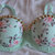 Mint Green Floral Studded Rave Bra 34B