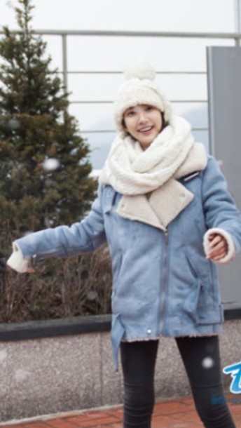 coat blue coat winter coat trendy dope girl wool