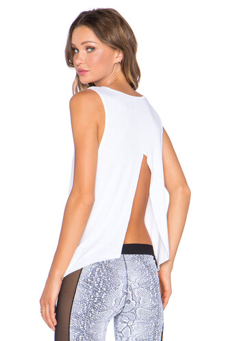 back open open back white top