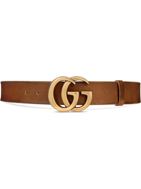 gucci metal women 100 belt leather brown