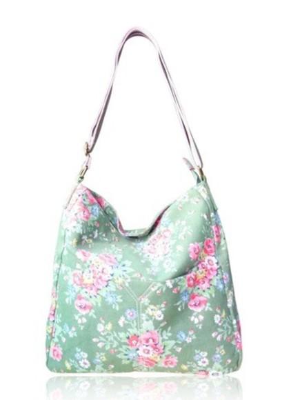 bag floral vintage fabulous style summery