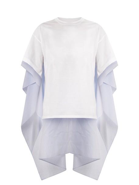 t-shirt shirt cotton t-shirt t-shirt cotton white top