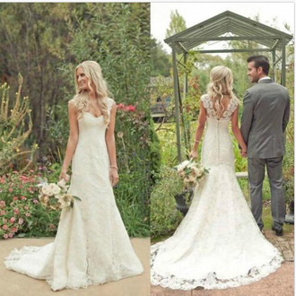 dress vintage wedding dress straps wedding dress lace wedding dress