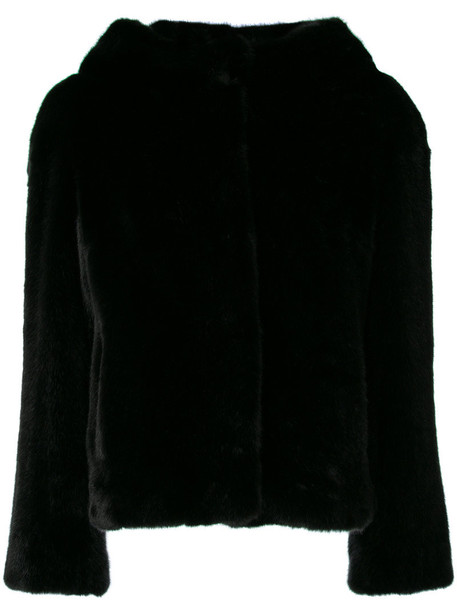 venus jacket hooded jacket fur women black