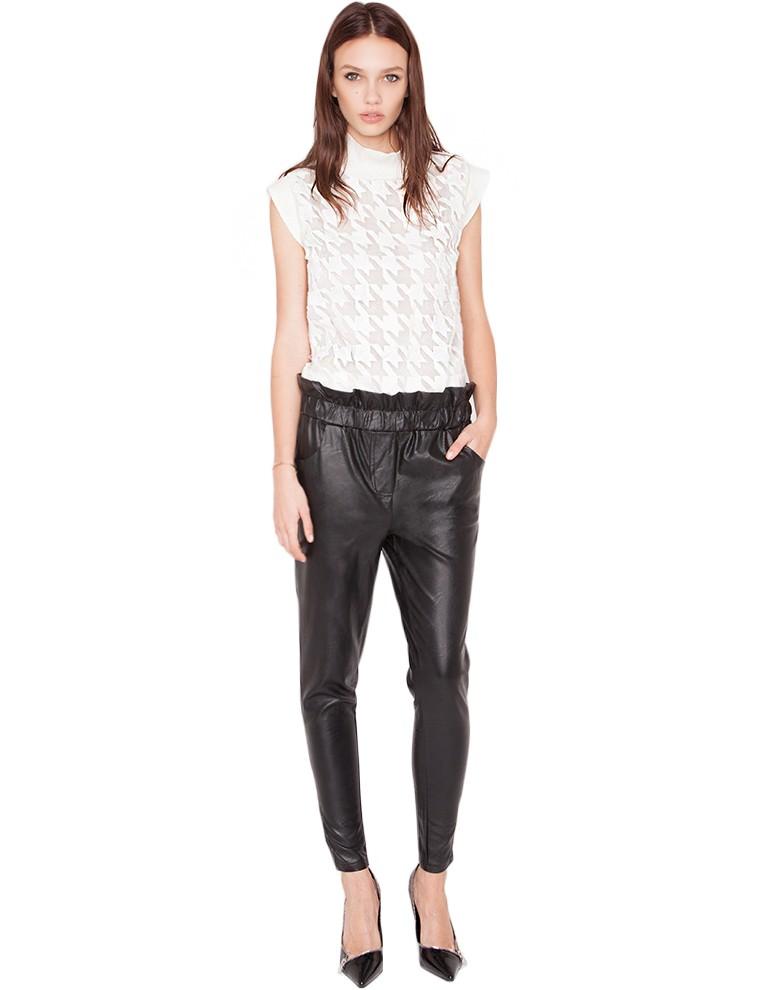 high waisted leather pants sleek leather pants 58. Black Bedroom Furniture Sets. Home Design Ideas