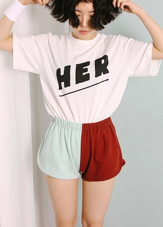 t-shirt tumblr aesthetic vintage japanese vaporwave shorts white t-shirt mini shorts