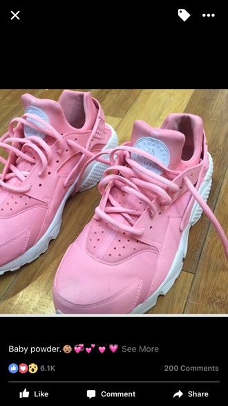 shoes huarache pink white nike
