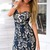 Dark Blue Off Shoulder Sweetheart Neck Lace Bodycon Dress