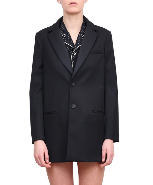 RED VALENTINO coat wool coat black wool